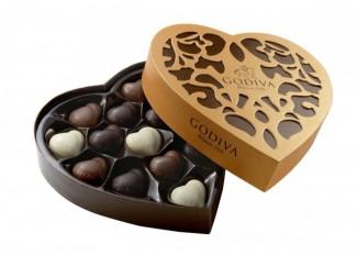 Godiva heart chocolate