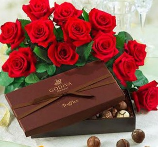 Flowers and Godiva