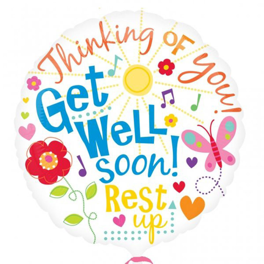 Helium Get Well Soon Balloon | WeDeliverGifts