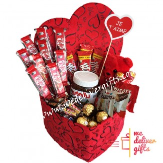 Gourmet Love Chocolate heart box
