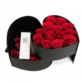 A Surprise DIOR Perfume in the heart Box