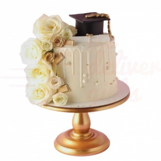 Elegant Graduation Cake