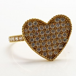 Heart Stone Gold Ring