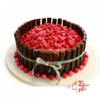 Valentine Smarties Cake