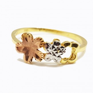 Flowers Gold Ring