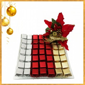 Christmas Chocolate in Classy Fine Plate