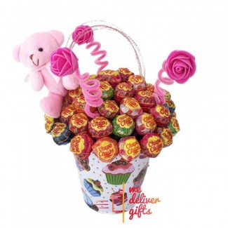 Chupa Chups decorated Bucket