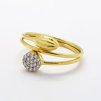 Stones Gold Ring
