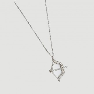Bow and Arrow Diamond Pendant