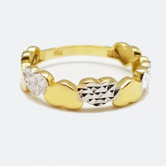 Multiple Hearts Gold Ring