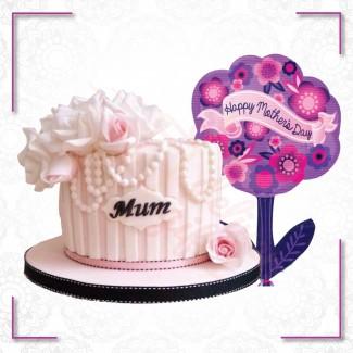 Mum Flower Balloon Combination