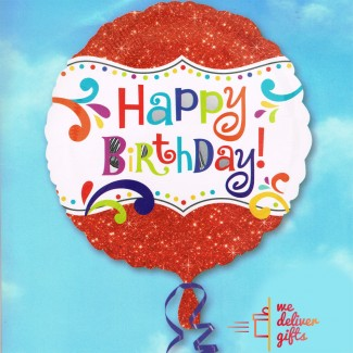 Shiny Happy Birthday Balloon