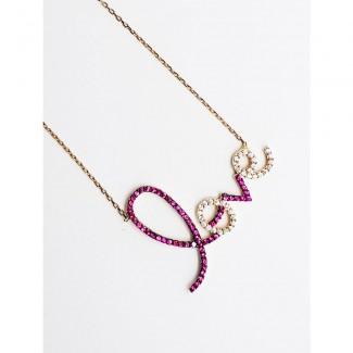 L O V E Gold Pendant