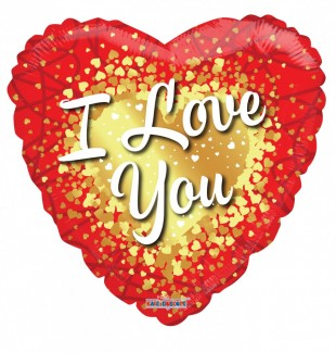 I Love You Gold Hearts Foil balloons