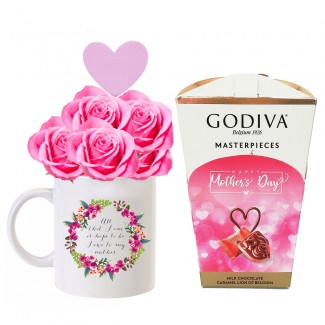 My Sweet Mom Godiva and Roses