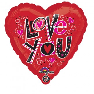 Love You Fun 18 Inch balloon