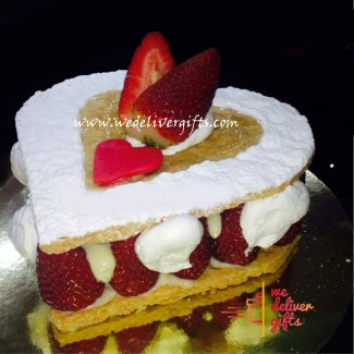 Mille Feuille Heart Cake