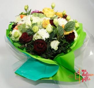 Simple Multi-Colored Flowers Bouquet