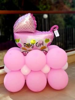 New baby girl balloon arrangement