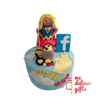 Super Mom Facebook Cake