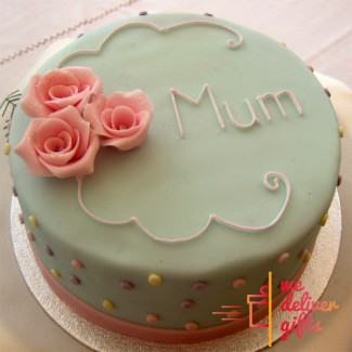 Three Roses Mum Cake