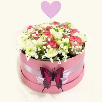 Sweet MOM Pink Flower Box