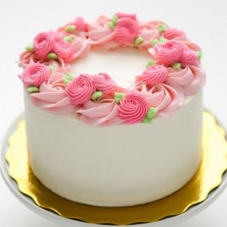 Pink Elegant Pink Cake