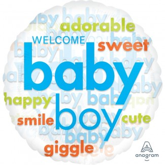 Baby Boy Word Cloud Balloon