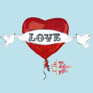 Heart Doves Balloon