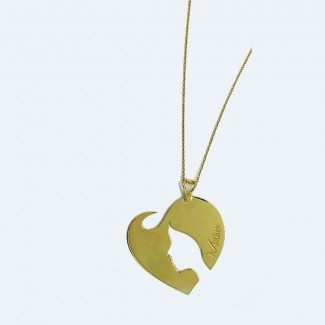 My Mother Gold Face Necklace