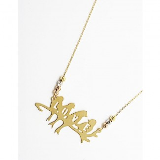Lovely Birds Gold Pendant
