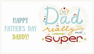 Happy Fathers day Daddy Greeting Card