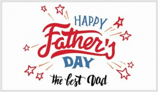 Happy Fathers day the Best Dad Greeting Card