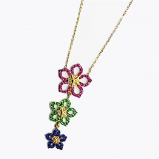 The 3 Flowers Gold Pendant