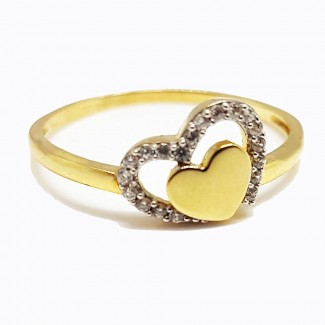 Hearts Gold Ring