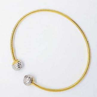 Semi Circle Double Stones Bracelet