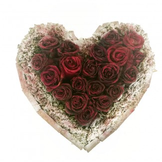 Glitter Heart shaped Roses