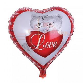 Cute Love Heart White And Read Balloon
