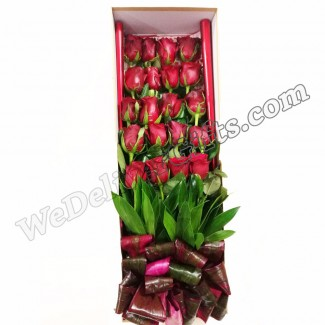 The 20 Roses in an elegant Box