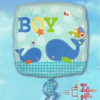 Baby Boy Square Balloon