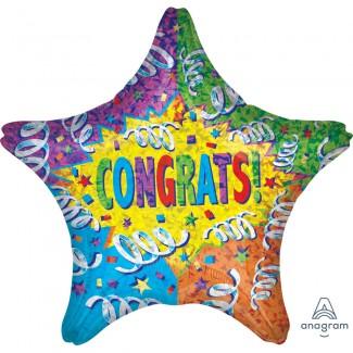 Congrats Streamer Explosion Balloon