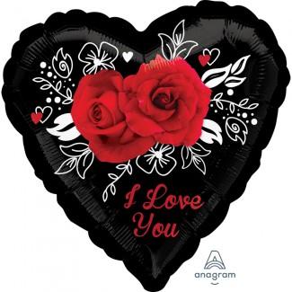 Romantic roses Heart Balloon