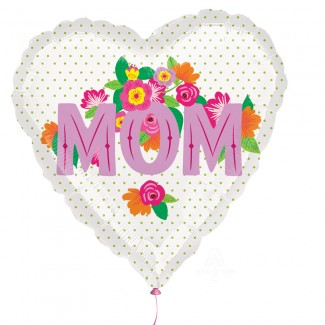 Mom printed flowers Balloon