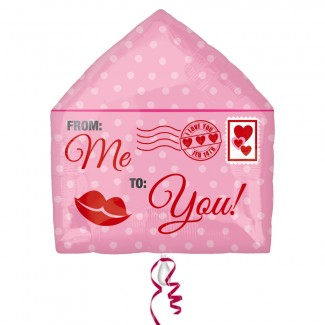 Love Letter Front Side Helium Balloon
