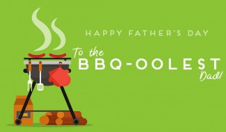 BBQoolest Dad Greeting Card