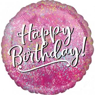 Pink birthday balloon