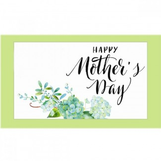Happy Mothers Day with printed Flowers Postal Card