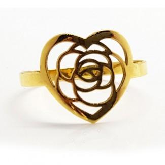 3D Rose Gold Ring