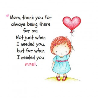 Mom Thank you For always being there Postal Card