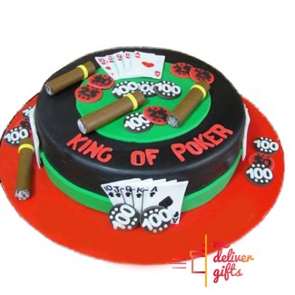 King of Poker Cake for Him